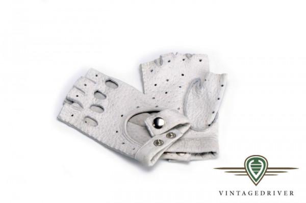 Damenhandschuh, halbfinger aus Peccary Leder